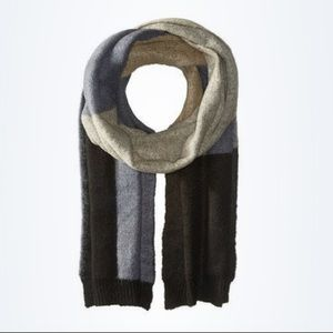 BCBC Color Blocked Blue Black Gray Scarf Winter